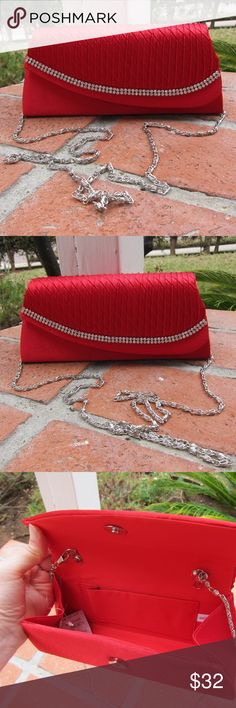 🌙 NWT Red Evening Clutch 👉 Don't know the brand - used Zara for visibility. 👈 Trades considered! ☕️ So I went overboard the other day and bought several clutches for myself (sooo cute!) 👛👛👛 until I realized I don't really go out much and will not get a chance to carry them. Too late to return... This is brand new. Comes with a chain that can be removed, or can be used as a shoulder bag. Zara Bags Clutches & Wristlets