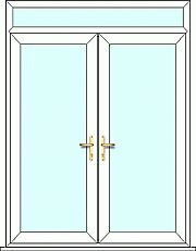 French Door top light, fully made to measure. Design, quote and order online easily with Just Value Doors today. French Doors, Garage Conversion, Upvc French Doors, Beautiful Colors, Home Decor, Reception Rooms, External French Doors, Doors, Cheap French Doors