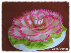 Flor esculpida em sabonete