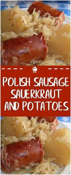 Polish sausage, Sauerkraut and potatoes ( CROCKPOT ) – Page 2 – Home Family . - Polish sausage, Sauerkraut and potatoes ( CROCKPOT ) – Page 2 – Home Family Recipes Imágenes ef - Kielbasa Crockpot, Sausage Crockpot Recipes, Polish Sausage Recipes, Bratwurst Recipes, Sauerkraut Recipes, Cooker Recipes, Polish Food Recipes, Sauerkraut And Polish Sausage Recipe, Cabbage Recipes