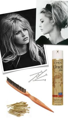 Bardot Hair How-To -- hinges on a backcombing or teasing brush. I've never heard of this but I'm looking into it. Could there finally be something to effectively give volume to my lank hair?