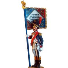 NP 027 FRENCH LINE GRENADIERS STANDARD BEARER