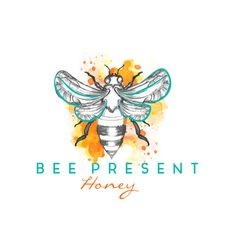 Bee Present Honey needs a logo whimsical yet classy by AnaLogo