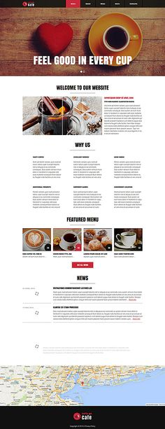 Cafe and Restaurant Joomla Template Free Website Templates, Joomla Templates, Joomla Themes, Web Design Software, News Cafe, Site Design, Restaurant, How To Make, Vegetable Garden