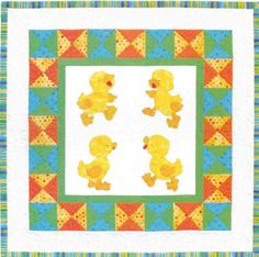 "Just Ducky, 36 x 36"" Infant/Baby Quilt Pattern by Brandywine Designs"