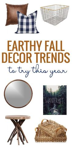 Remodelaholic | Earthy Fall Decor Trends We Love. A great round-up of home decor with leather, wood, kilim, baskets, and more!