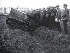 Tractor is tested at the Agriculture Academy, Moscow, 1924.