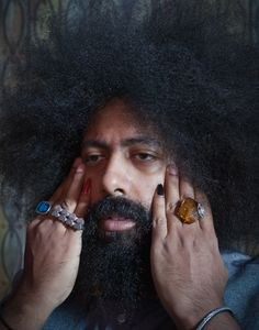 Reggie Watts, born March is an Aries very close to the cusp of Pisces. Reggie Watts, Drawing Reference, Pisces, Peeps, March, Knowledge, Music, Men, Style