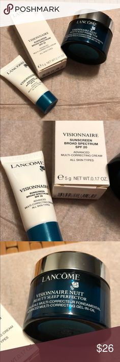 Visionnaire day & night cream set sleep perfector Set of two fresh new: night 0.5 oz and day 0.17 oz Lancome Makeup Concealer