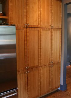 Mitered Bamboo Cabinet Doors With Corner Inlays, By Conklin Designs By  Animas, Via Flickr