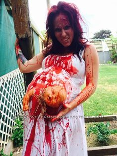 Extreme Pregnancy Costume with Extreme Baby Cramps... Coolest Halloween Costume Contest