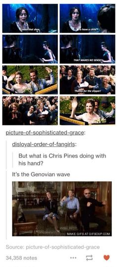 WHAT MAKES THIS SO MUCH BETTER IS THAT HE WAS IN PRINCESS DIARIES 2 SO I BET JULIE ANDREWS HERSELF TOUGHT CHRIS PINE THAT WAVE