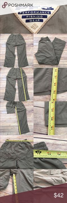 👕 Medium Columbia Convertible Fishing Pant Shorts Measurements are in photos. Normal wash wear, no flaws. F4/49  I do not comment to my buyers after purchases, due to their privacy. If you would like any reassurance after your purchase that I did receive your order, please feel free to comment on the listing and I will promptly respond.   I ship everyday and I always package safely. Thank you for shopping my closet! Columbia Pants Cargo