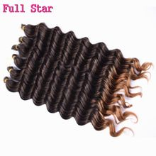 Full Star 22'' 80g 13roots Deep wave Synthetic Hair bundles deep curly hair extension Crochet Twist Braiding hair Extension //FREE Shipping Worldwide //