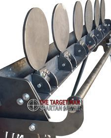 The Target Man DIY Plate Rack steel shooting targets. Save money by welding your own steel shooting targets. Steel targets for training and for fun capable of withstanding and rounds. Steel Targets, Steel Shooting Targets, Shooting Bench, Shooting Guns, Shooting Range, Shooting Stand, Shooting Rest, Shooting Practice, Airsoft