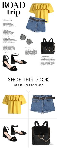 """Untitled #130"" by ritaaalourenco ❤ liked on Polyvore featuring Chicwish, Chloé and Ray-Ban"