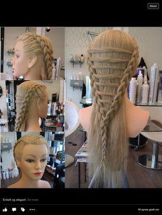 Fletninger med forbindelser.  #braid #hair #blond #long #hairdresser