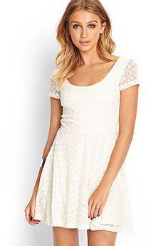 $17.80  Embroidered Floral Skater Dress | FOREVER 21 - 2000069519