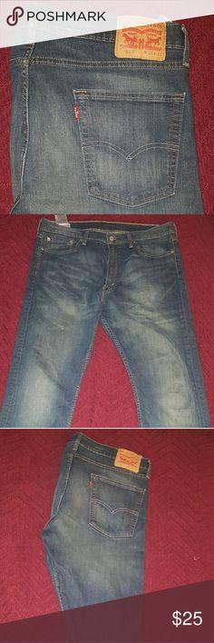 513 Levis Jeans Blue Jeans with Light Wash W36 L32 style 513 Levi's Jeans