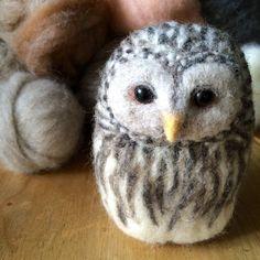Needle Felted Ural Owl by NeedlefeltCorner on Etsy
