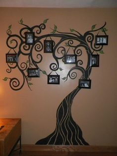 Family tree. Nathan made this on one of the walls in our living room. Love it!