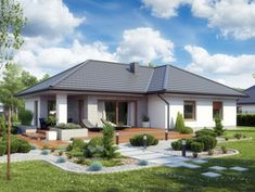 DOM.PL™ - Projekt domu ATK TK133 CE - DOM AK1-66 - gotowy koszt budowy Affordable House Plans, Affordable Housing, Malm, Home Fashion, Mansions, House Styles, Outdoor Decor, Home Decor, Modern Bungalow
