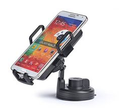 Walsontop 2in1 3 Coils Qi Wireless Power Charger Inductive Mobile Phone Charger and 360 Degree Rotating Universal Car Vehicle Mounted Holder for Samsung Galaxy S5 I9600S4 I9500SII S3 I9300 Note 2 N7100 Note 3 N9000LG Nexus 45Nokia Lumia 920AC Adapter Not Included Micro USB Cable Included Black -- Want additional info? Click on the image.