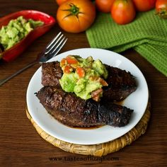 Mexican Steak & Avocado Salsa {Tastes of Lizzy T}