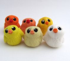 Adorable needle felted chicks!