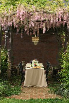 Outdoor dining room...Whimsical...