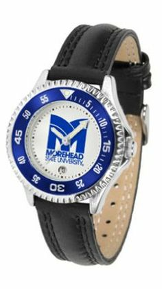 Morehead State Eagles Competitor Ladies Watch with Leather Band by SunTime. $74.55. The hottest sports watch on the market, the Competitor features the Morehead State Eagles team logo boldly displayed on the dial along with a colorful rotating timer/bezel, quartz accurate movement and leather/nylon strap. The combined leather underneath and nylon on top makes the watch water resistant as well.¶Wear it to a game, while watching a game or just to show off your NCA...