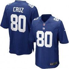 9e3de8c11 Nike Mens New York Giants Victor Cruz Jersey 80 Game Team Color Blue New  York Giants