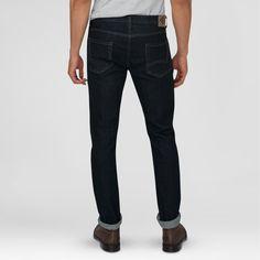 Dickies Men's Slim Fit Skinny Leg 5-Pocket Jean Dark Indigo (Blue) 32X34