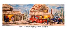 A new painting created depicting my family during Christmas and winter fun!