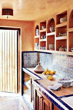 Moroccan Kitchen Decor Ideas - Choosing your kitchen design from the large number of kitchen decorating ideas that abound ma Architectural Digest, Moroccan Interiors, Moroccan Decor, Moroccan Style, Modern Moroccan, Moroccan Bedroom, Moroccan Lanterns, Moroccan Design, Moroccan Kitchen
