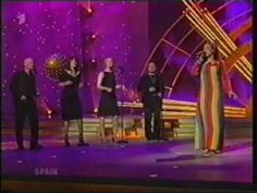 The unfortunate rainbow striped dress... most Eurovision watchers will probably only remember this, but not the actual song...