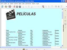 Informe creado para la tarea 3.1. en LibreOffice Base