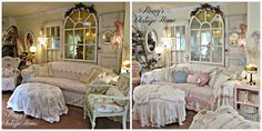 Penny's Vintage Home: Shabby Slip Covers