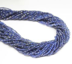 Water Sapphire Blue Iolite Micro Faceted Roundel Beads – Jewels Exports