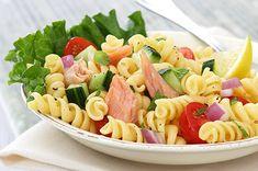 Salmon Pasta Salad with Mint and Lemon Vinaigrette : Healthy Pasta Recipes