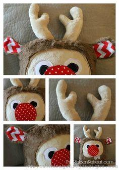 Holiday Plush Reindeer - The Ribbon Retreat Blog