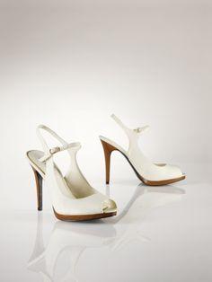 Bernadette Linen Slingback - Lauren Lauren Shoes - RalphLauren.com