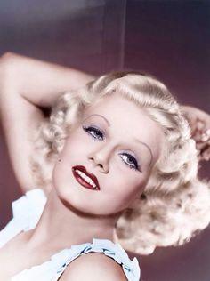 Jean Harlow, the original blonde bombshell Hollywood Vintage, Old Hollywood Glamour, Golden Age Of Hollywood, Vintage Glamour, Hollywood Stars, Vintage Beauty, Classic Hollywood, Hollywood Makeup, Vintage Vogue