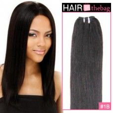 """Natural Black(#1B) Straight 10""""-30"""" 100g Indian Remy Hair Wefts $44.99"""
