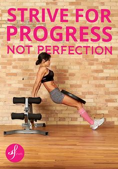 Fitness motivational quote of the day: Strive for progress NOT perfection. WBFF World Pro & bikini pro, mother of 4 energetic girls! Check out her patent pending high impact sports bra designed to maximise comfort throughout the toughest workout.  http://shop.shefit.com/collections/all-products/products/shefit-sports-bra