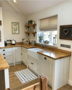 I get asked, almost daily, what we treat our oak worktops with! It's called Fi… I get asked, almost daily, what we treat our oak worktops with! It's called Fiddes Hard Wax Oil and there is a story… Best Kitchen Sinks, New Kitchen, Cool Kitchens, Kitchen Dining, Kitchen Decor, Awesome Kitchen, Kitchen Ideas, Kitchen White, Small Kitchen Diner