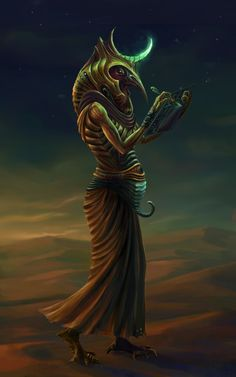 Thoth is the Egyptian god of the mind - of intelligence, thinking, reason, and logic. Egyptians often thought of Thoth as the heart and tongue of the sun god Ra. (The heart, because in ancient Egypt people thought the heart was where you kept your intelligence.)
