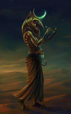 Egyptian God Thoth by Benu