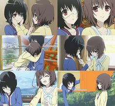 Mei Misaki and Fujioka Misaki- this actually makes me somewhat sad. Another Misaki, Another Anime, Corpse Party, Scary, Creepy, Japanese Horror, Good Anime Series, Thats All Folks, Fox Art