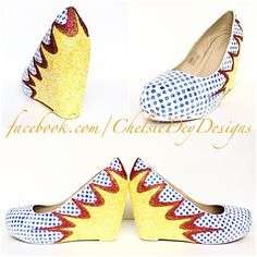 Comic Book Wedge Glitter Pumps, Comicon Wedding High Heels, Boom Pow Heels sold by Chelsie Dey Designs. Shop more products from Chelsie Dey Designs on Storenvy, the home of independent small businesses all over the world.